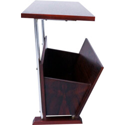 Side table with magazine rack in rosewood - 1960s