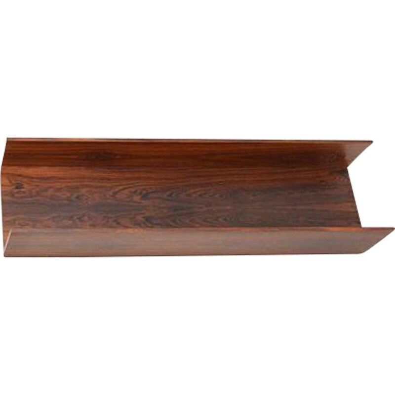 Vintage wall-mounted rosewood shelf by Wilhelm Renz.