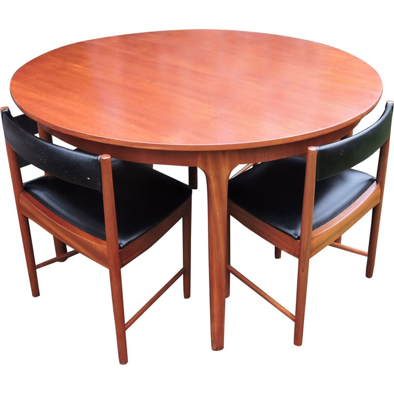 Vintage Dining set with Table and Four Chairs by McIntosh, 1960s