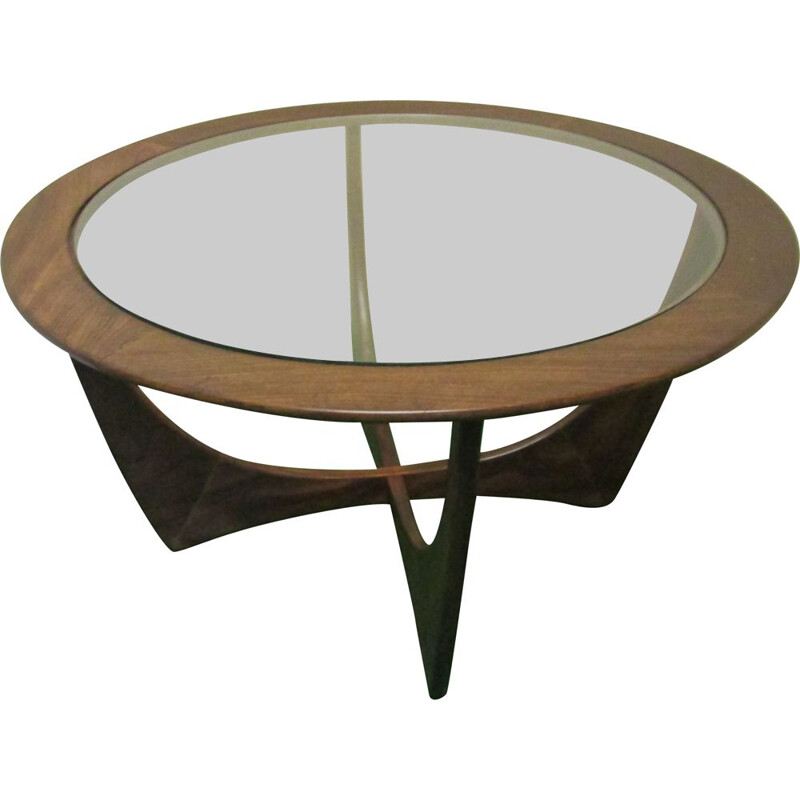 "Vintage round coffee table ""Astro"" by Victor B.Wilkins for G-Plan in teak wood"