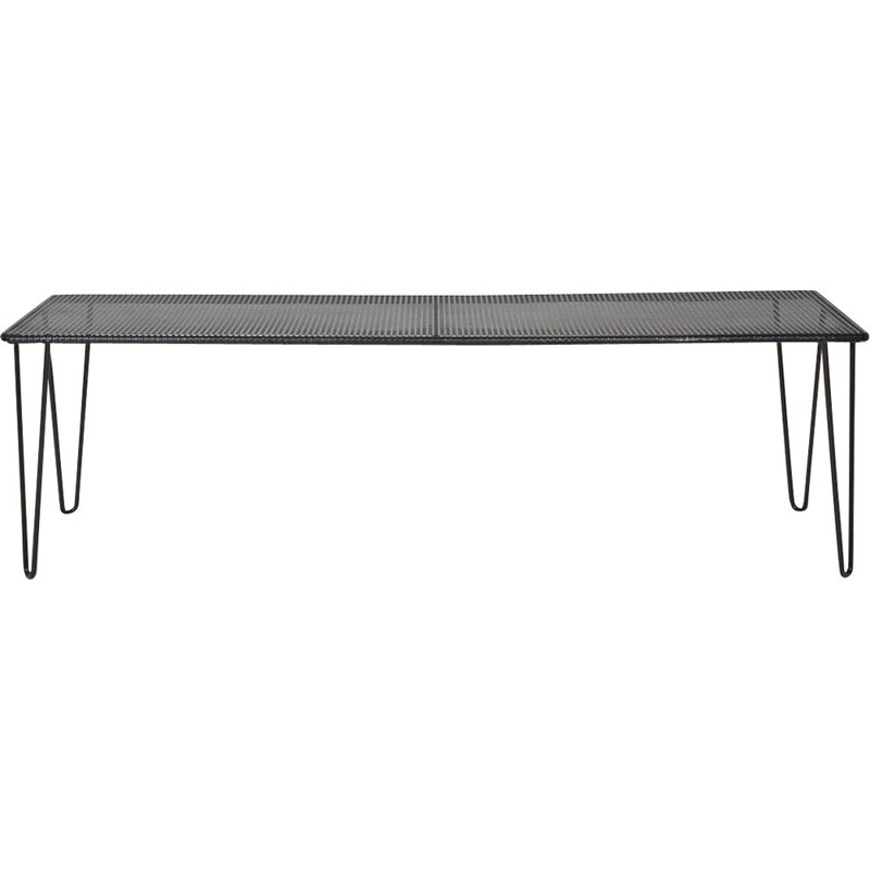 Vintage Black metal console bench 1960