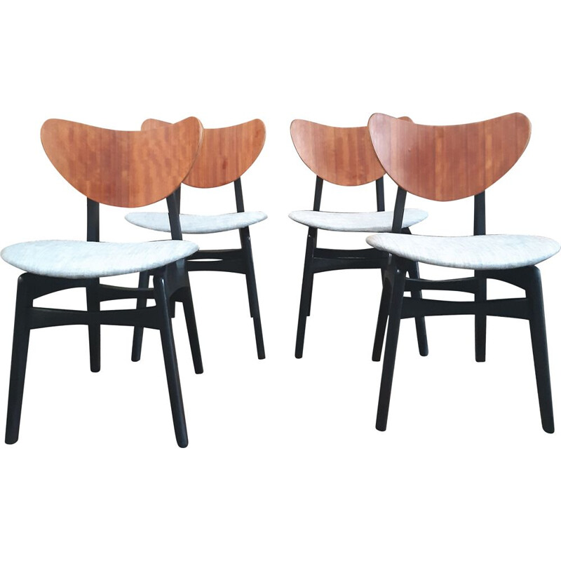 "Set of 4 Dining Chairs ""Butterfly"" by G Plan"