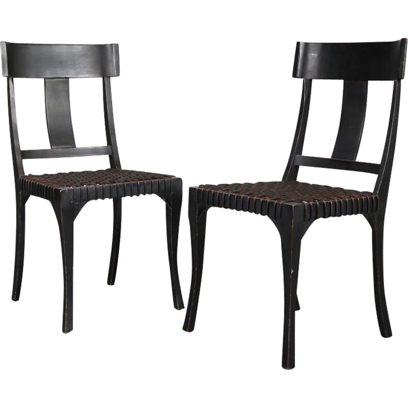 Pair of Klismos chairs, 1950s