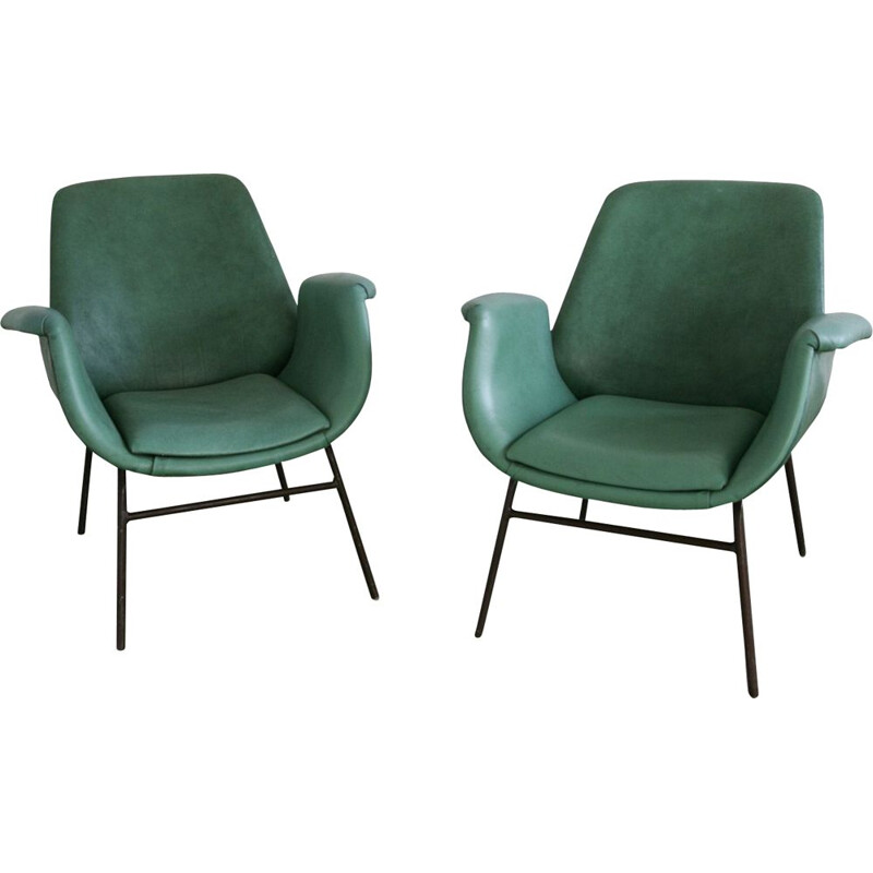 Pair of vintage armchairs by Stol 1950