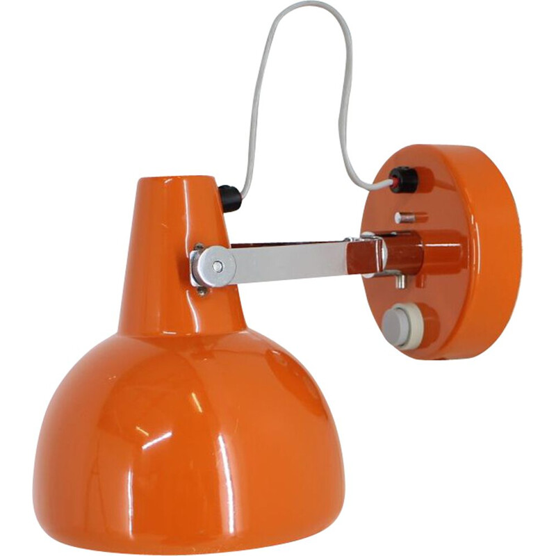 Vintage orange wall lamp by Lidokov, 1960s