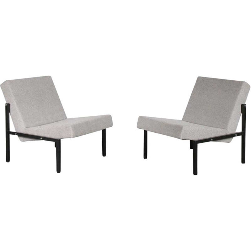 Vintage pair of Dutch armchairs by Martin VISSER, 1960s