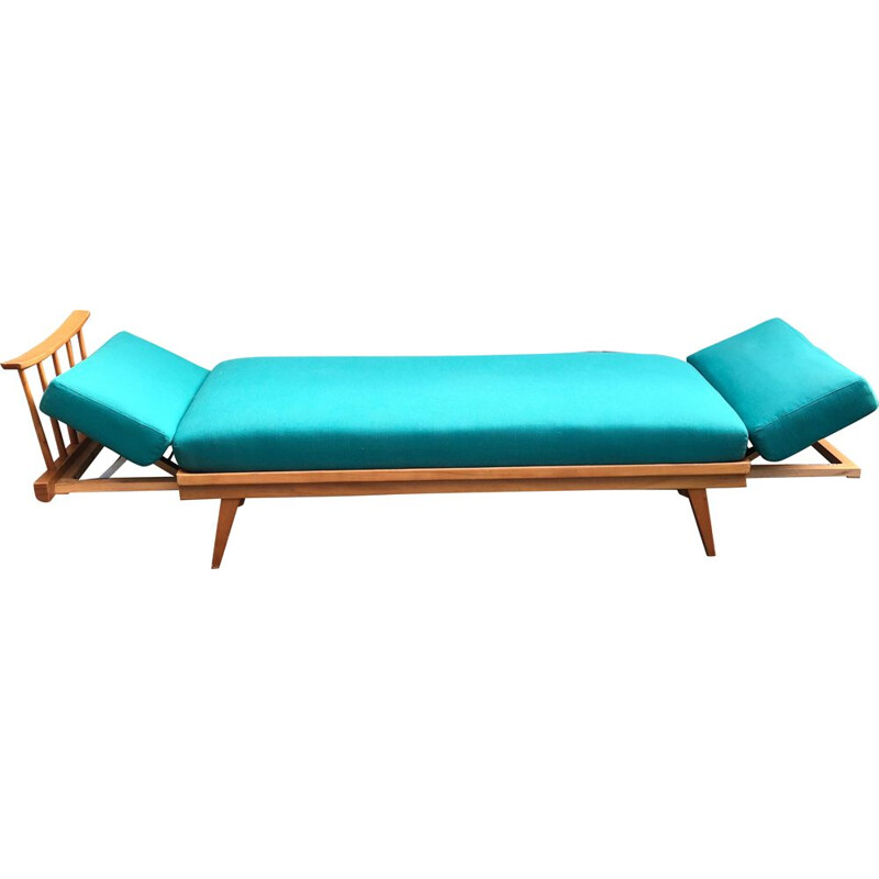 Vintage Extendable beech daybed by Wilhelm Knoll for Knoll Antimott, 1950s