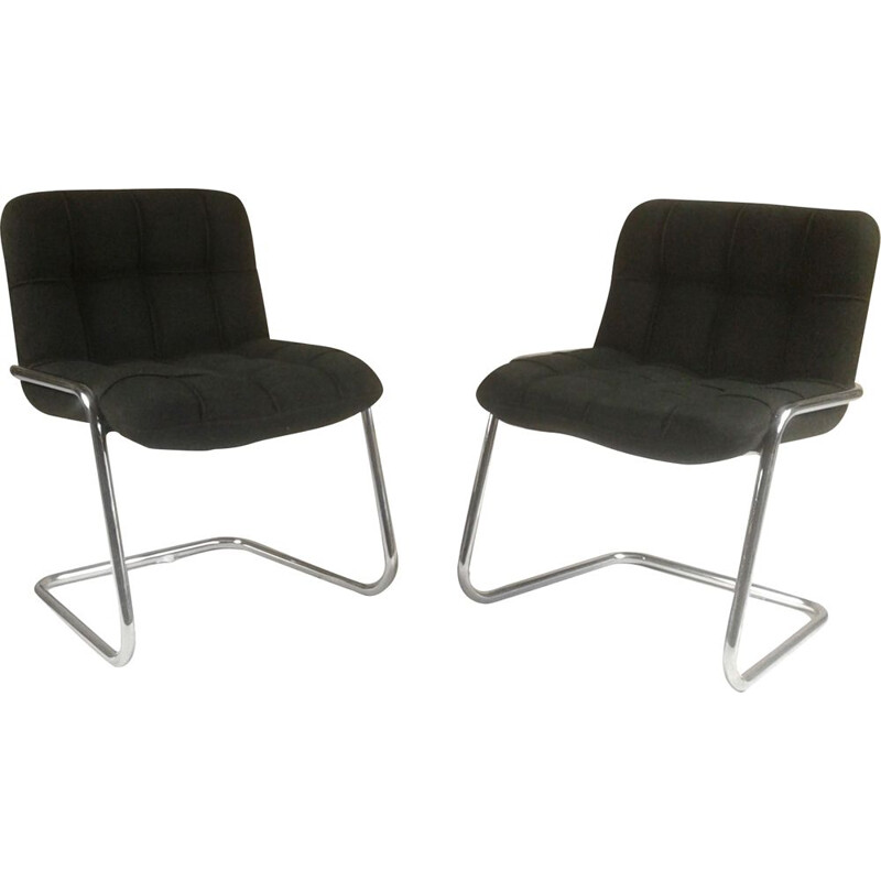 Pair of Yves ChriSaint Storm design armchairs for Airborne