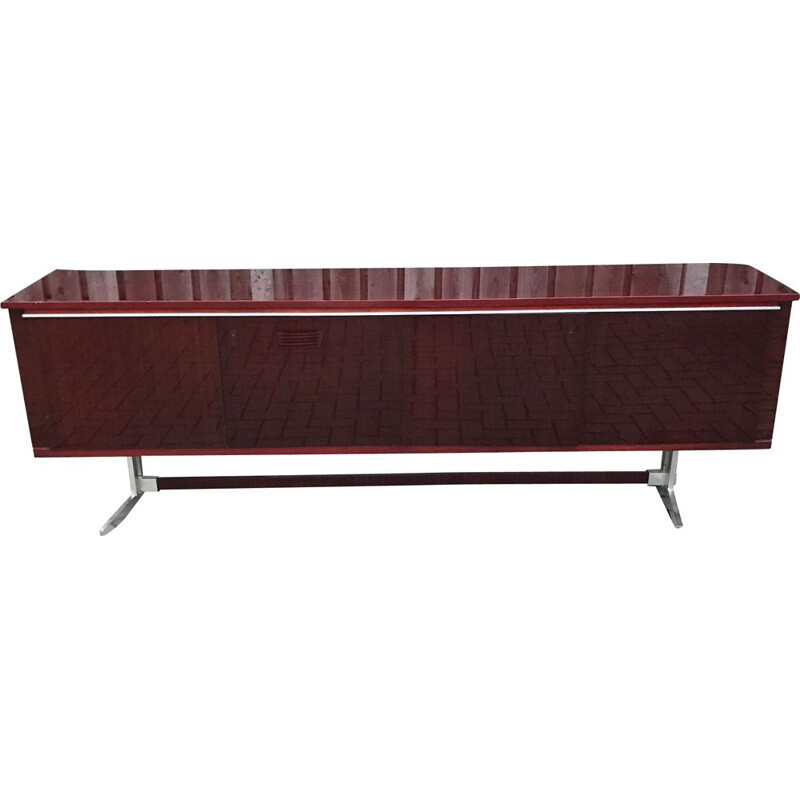 Vintage Large Mahony Sideboard by Alfred Hendrickx, 1960