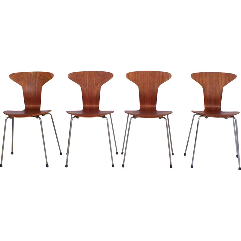 Set of 4 vintage Mosquito chairs by Arne Jacobsen for Fritz Hansen, 1955