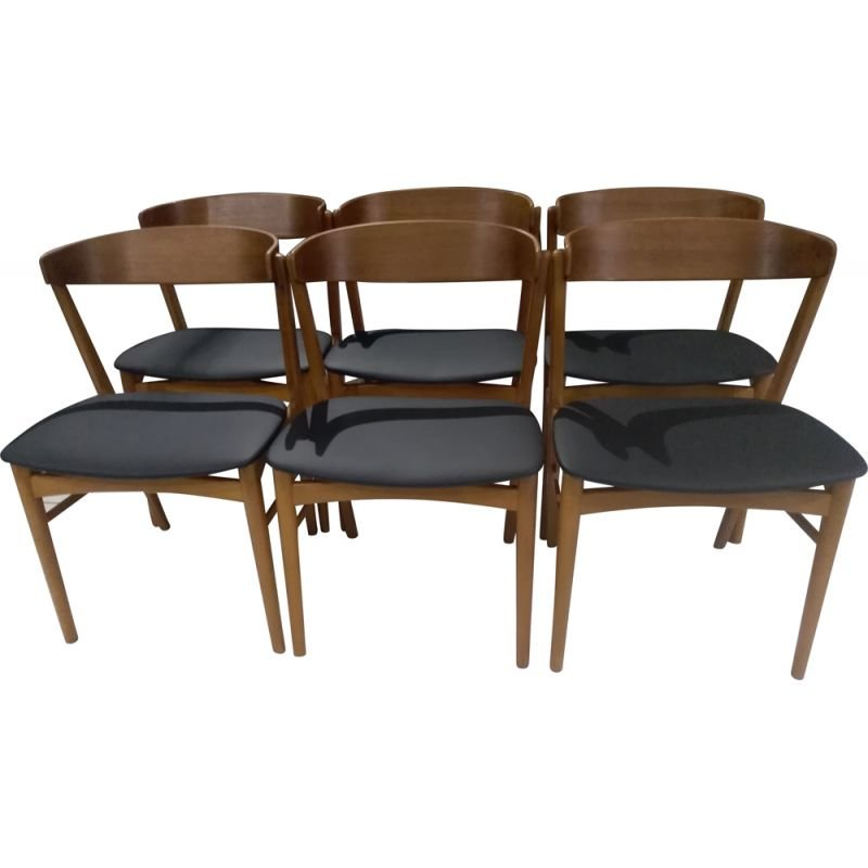 Suite Of 6 Vintage Teak Chairs Model 206 By Farstrup 1960s Design Market