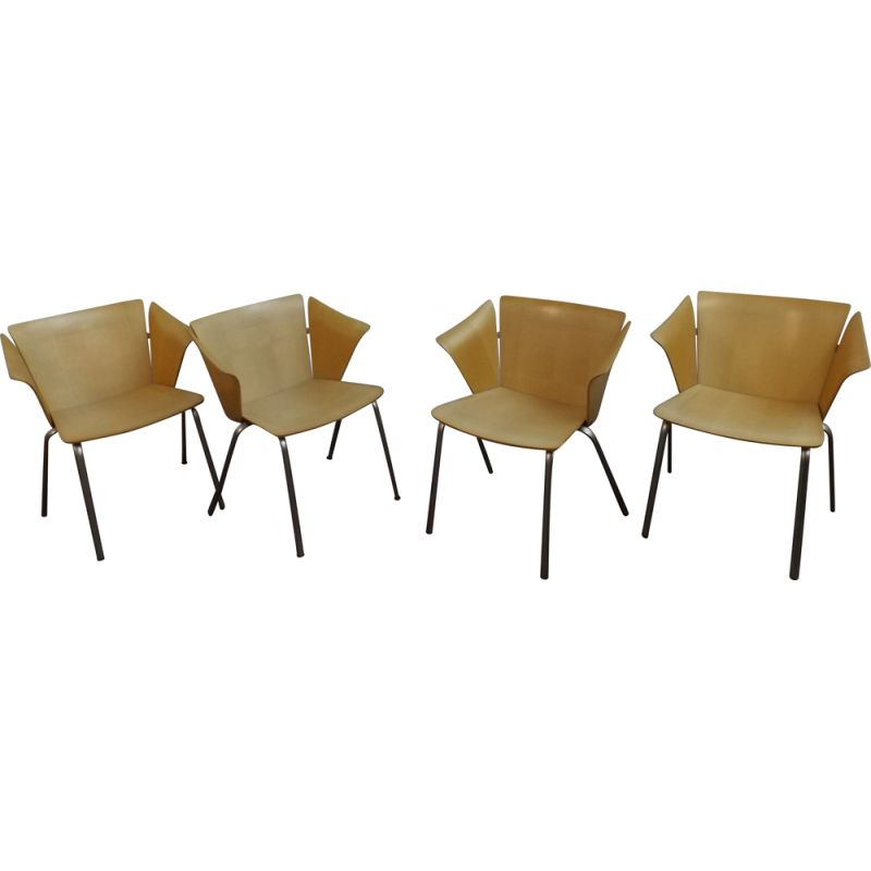 Vintage set of 4 VM02 chairs by Vico Magistretti for Fritz Hansen