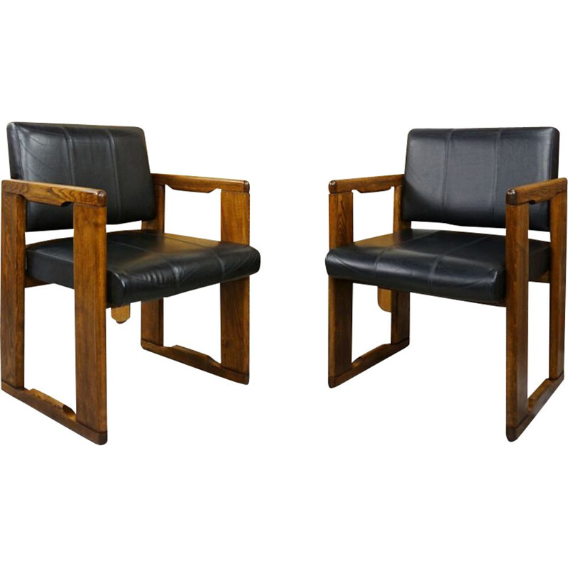 Pair of vintage armchairs model Dialogo by Afra & Tobia Scarpa, 1970s