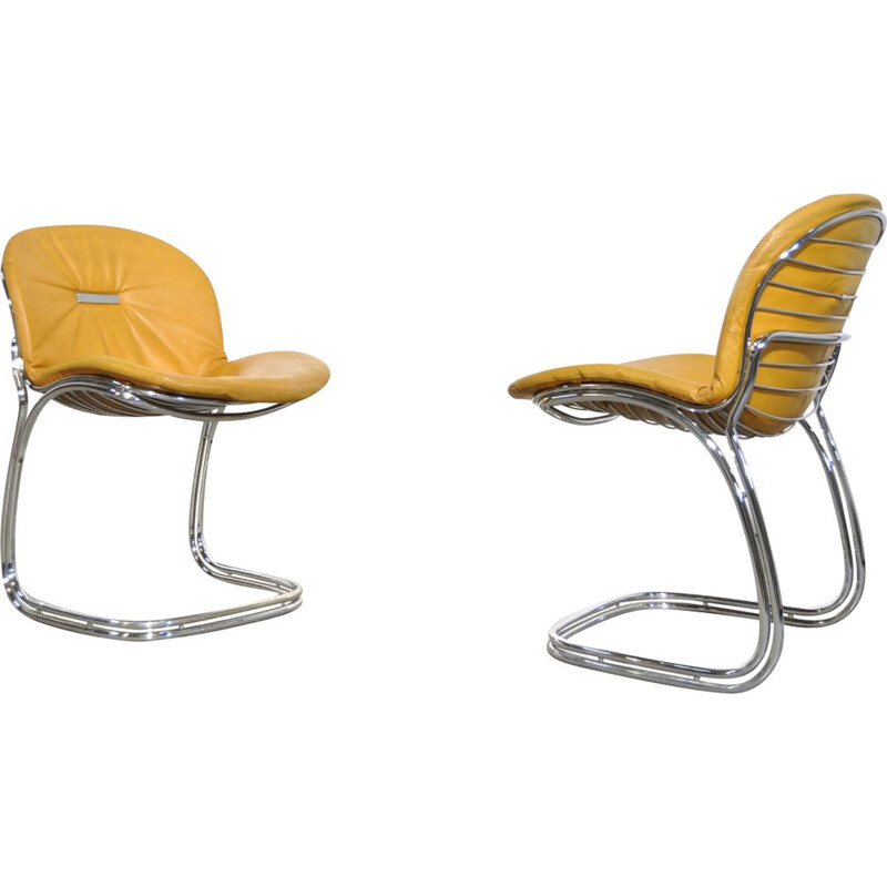 Set of 2 Sabrina dining chairs By Gastone Rinaldi For Rima, Italy, 1970s
