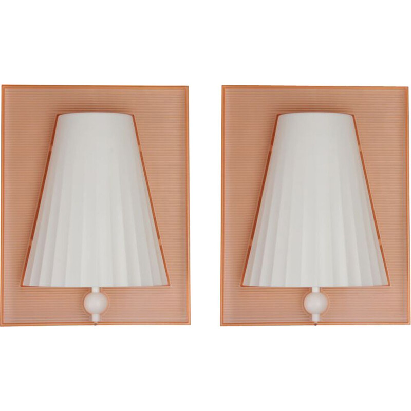 Pair of vintage wall lamps by Starck for Flos, Walla Walla model, 1994