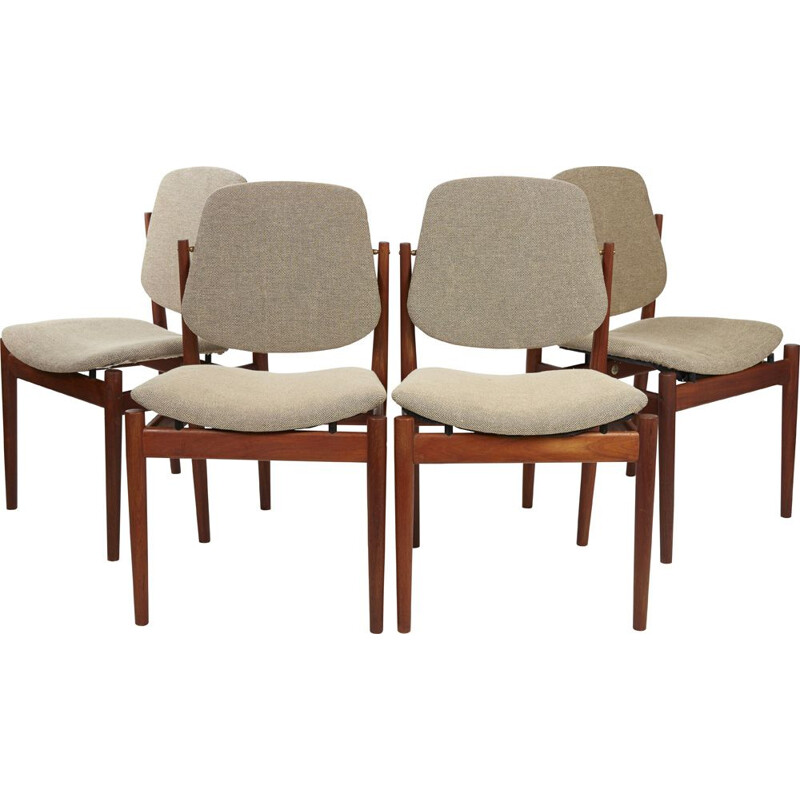 Set of 4 Danish chairs by Arne Vodder 1956