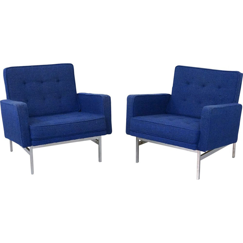 Pair of vintage Florence Knoll Armchairs 1950