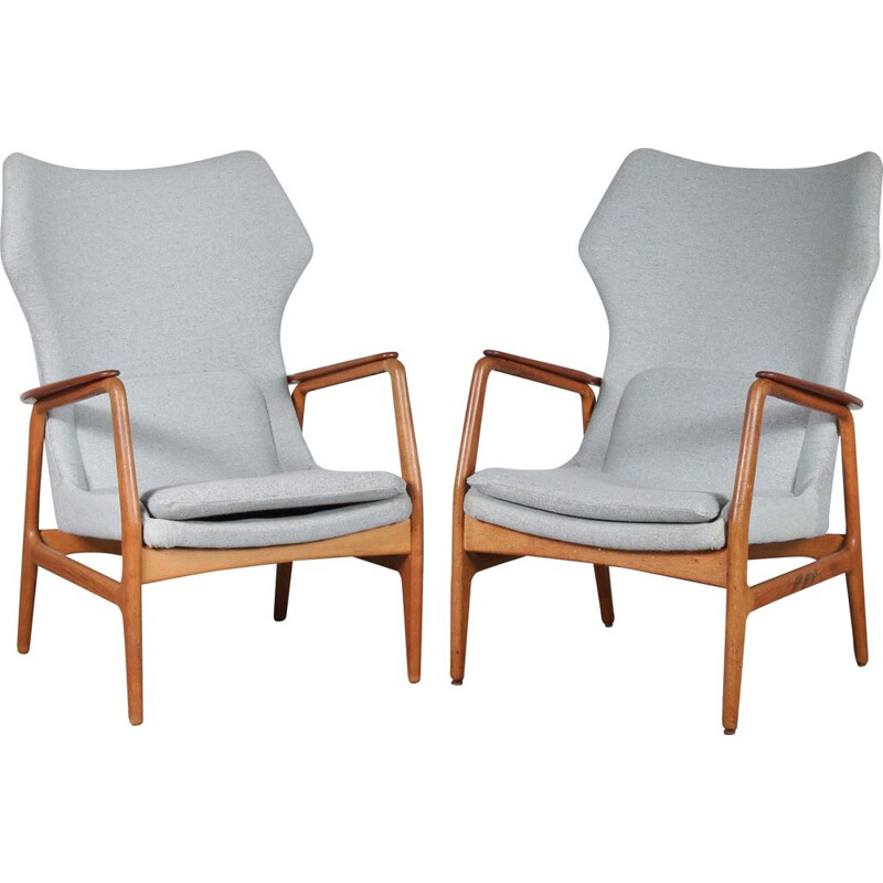 Vintage Pair of armchairs by Aksel Bender Madsen for  Bovenkamp, Netherlands