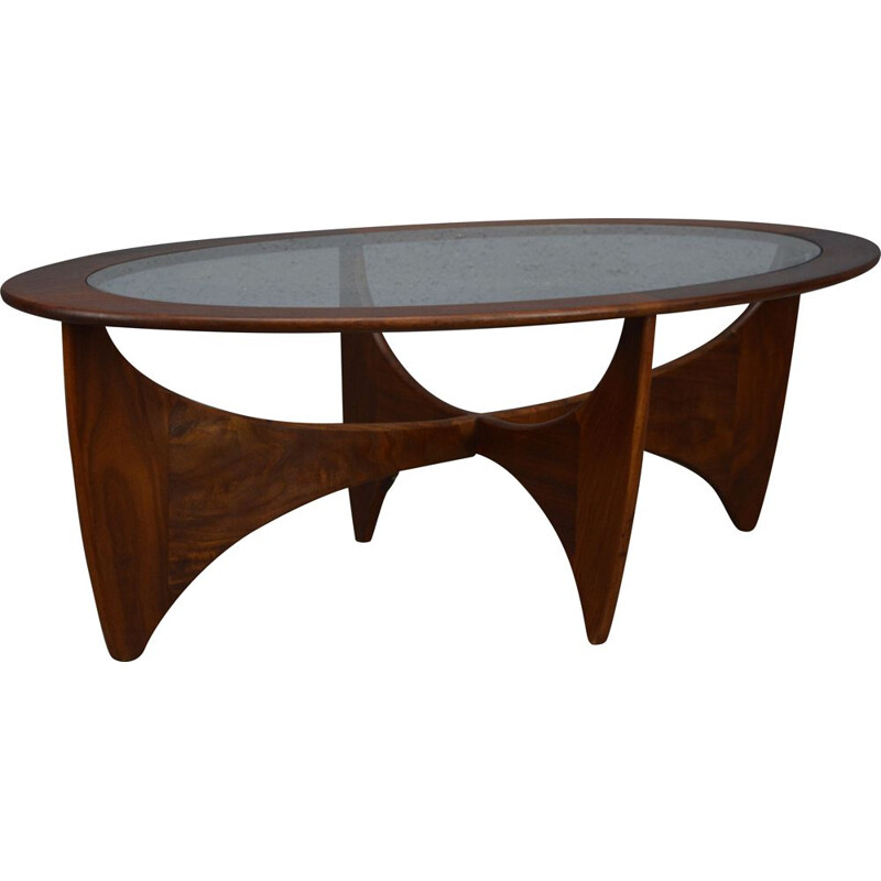 Vintage Oval Astro Coffee Table by G Plan 1960