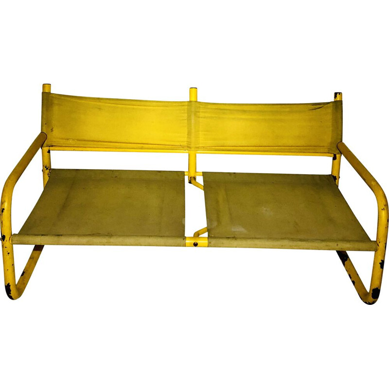 Vintage yellow bench