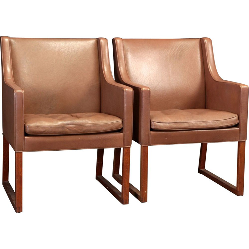 Pair of Vintage Borge Mogensen armchairs, model 3246 by Fredericia, 1970