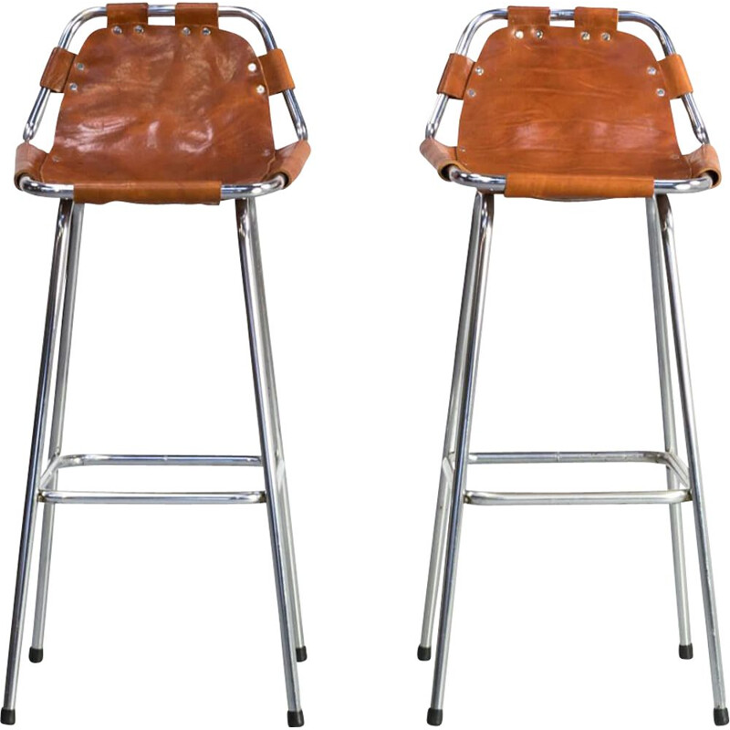 Vintage bar stool by Charlotte Perriand for Les Arcs