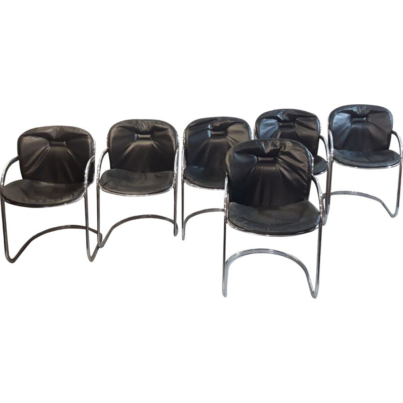Set of 6 chairs by Gastone Rinaldi, 1970