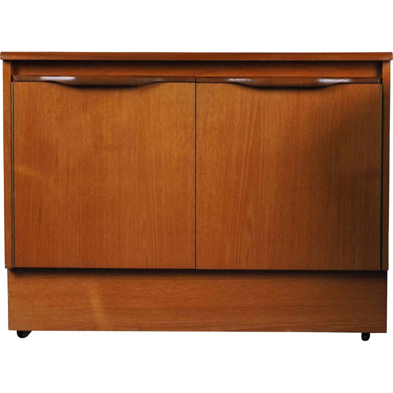 Vintage teak sideboard with double doors