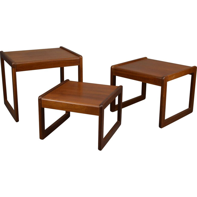 Set of vintage Scandinavian nesting tables