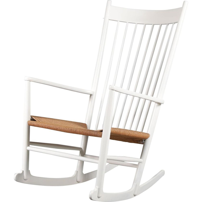 Vintage Danish rocking chair by Hans J. Wegner for FDB Mobler, Denmark