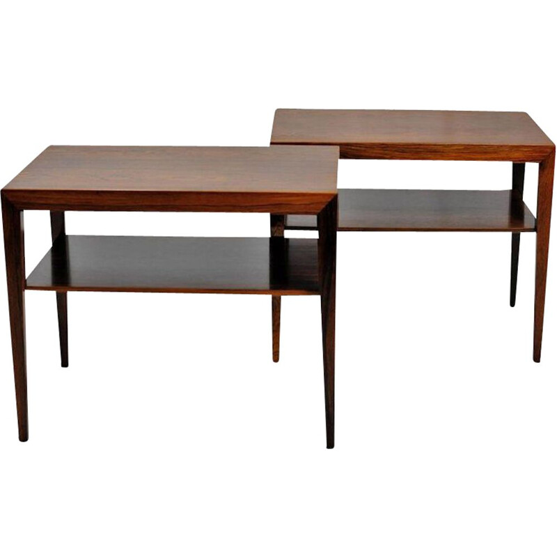 Vintage pair of Side Tables in Rosewood by Severin Hansen for Haslev Møbelsnedkeri 1960