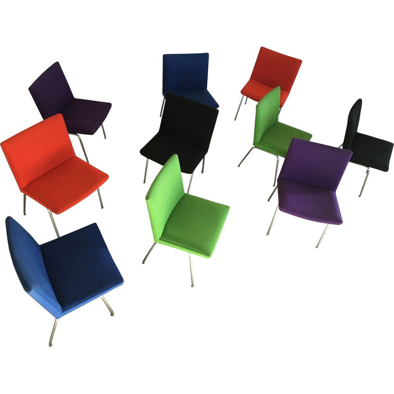 Vintage Hans Set of 10 Airport Chairs by J. Wegner for A.P. Stolen Inc