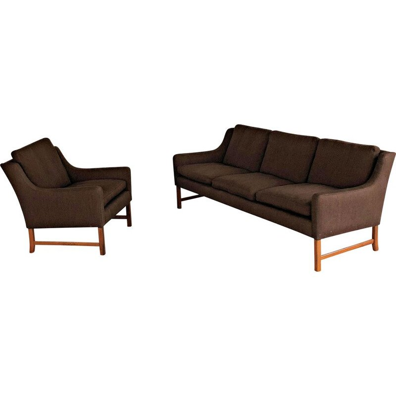 Vintage living room set of Sofa and Lounge Chair by Fredrik Kayser for Vatne 1960