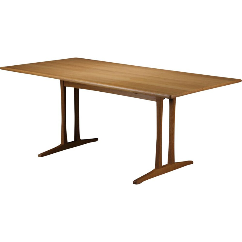 Vintage Borge Mogensen Refinished Dining Table in Oak by FDB Mobler 1960