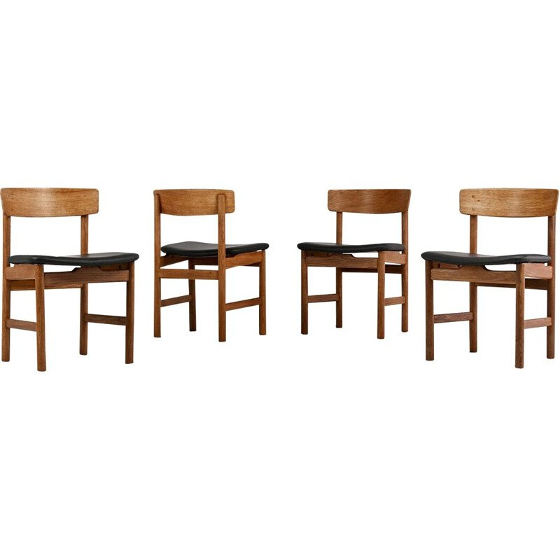"Suite of 4 chairs model ""236"", from the Danish designerBørge Mogensen for Fredericia"