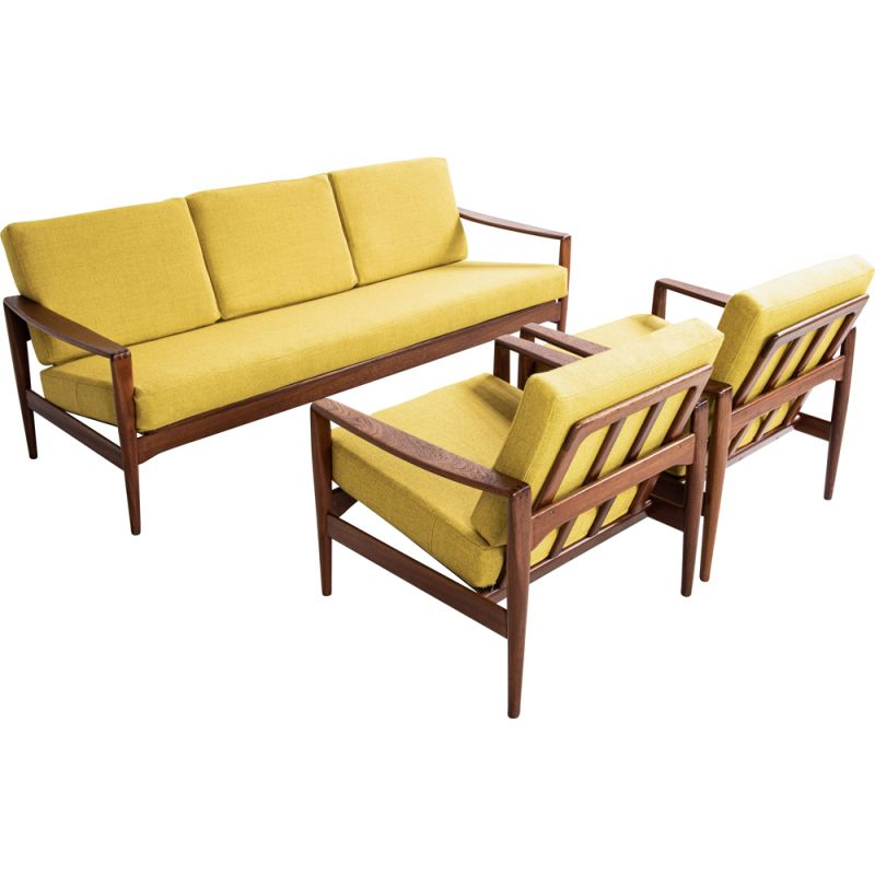 Vintage lounge set in teak by Illum Wikkelsø for Niels Eilersen, 1960s