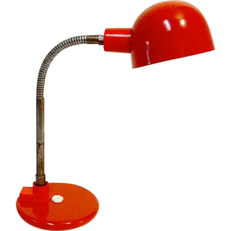 Vintage red Aluminor lamp