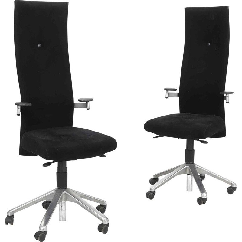Pair of vintage office chairs by Burkhard Vogtherr