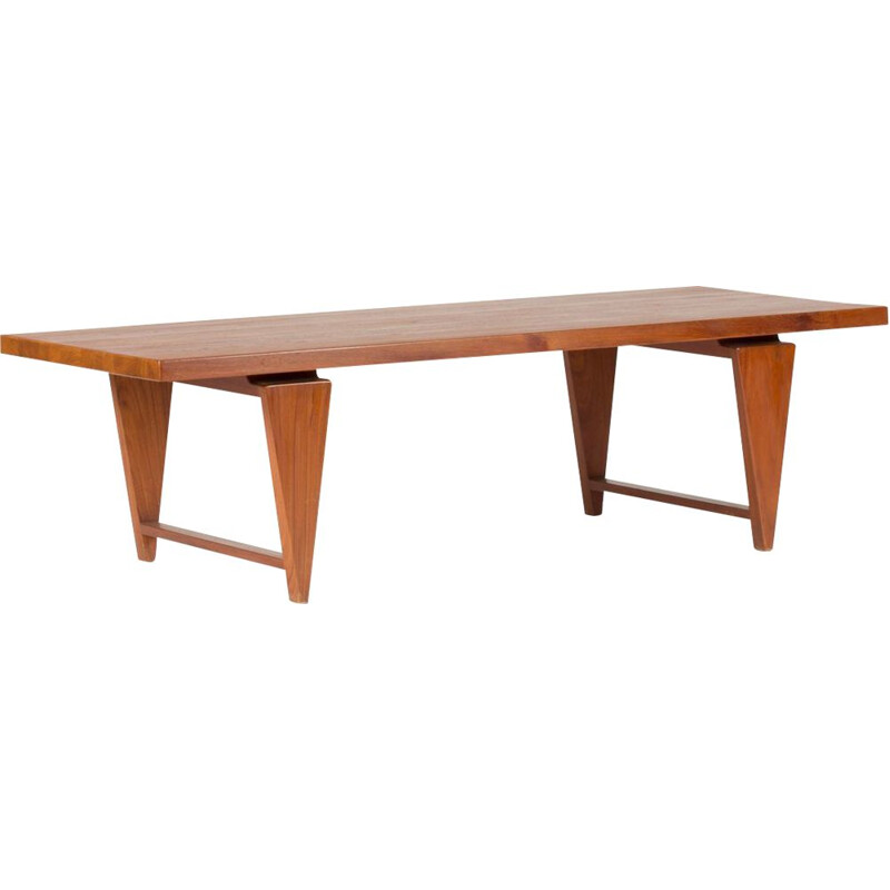 Vintage solid teak coffee table by Illum Wikkelsø for Mikael Laurse