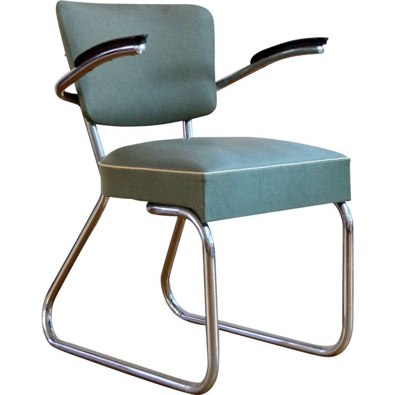Vintage Office Armchair by Gispen, 1950s