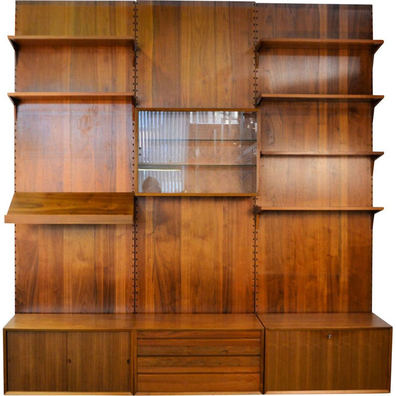 Vintage teak modular wall-unit by Poul Cadovius for Cado