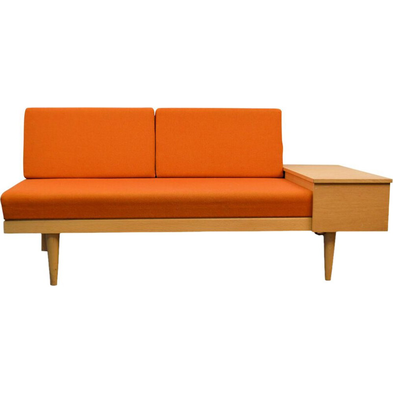 Vintage 2-seater oak sofa by Ilmar Relling for Ekornes Svane