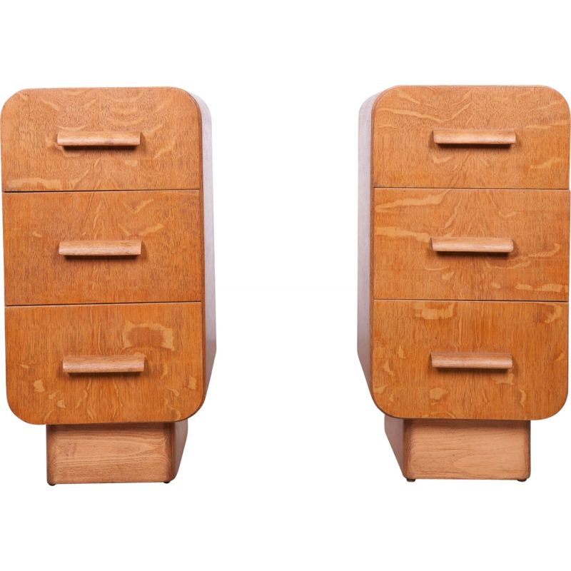 Pair of Vintage Art Deco Nightstands, 1930s