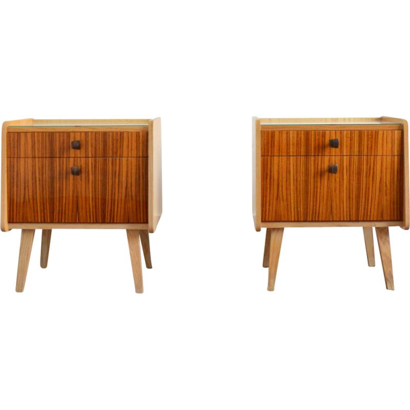 Pair of  vintage bedside tables 1960s