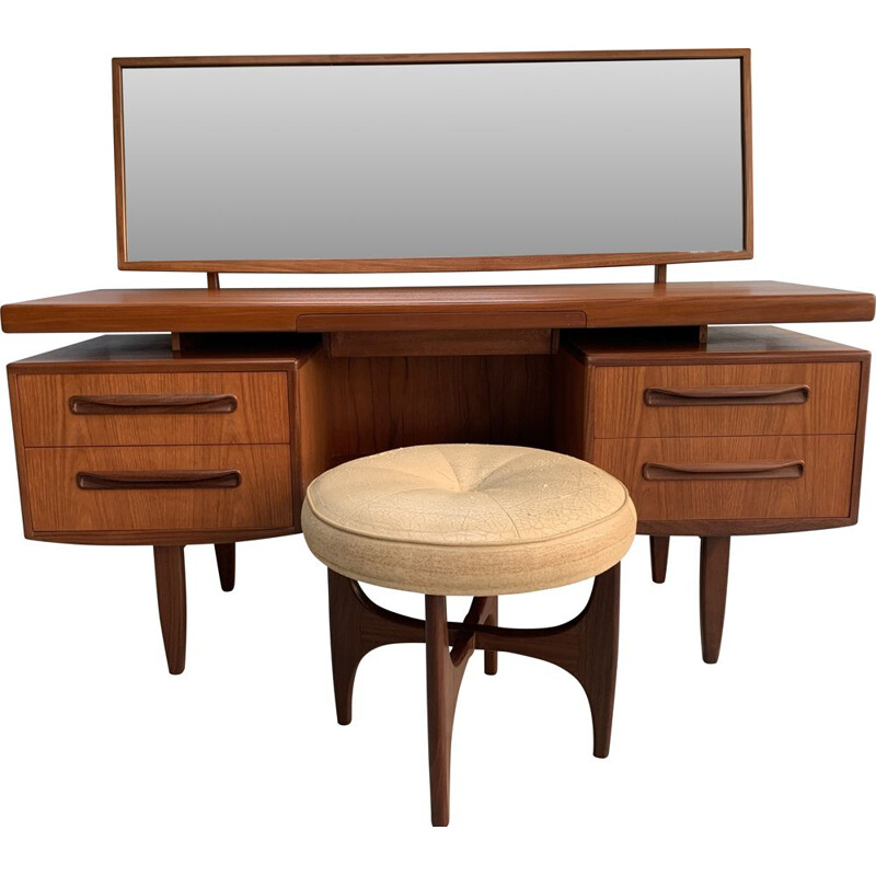 Vintage dressing table with stool by G-Plan, 1960s