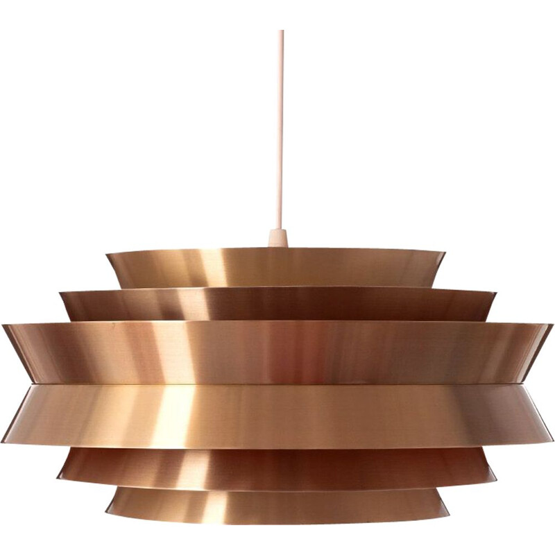 Vintage pendant lamp in brass by Carl Thore, Granhaga Sweden, 1960s