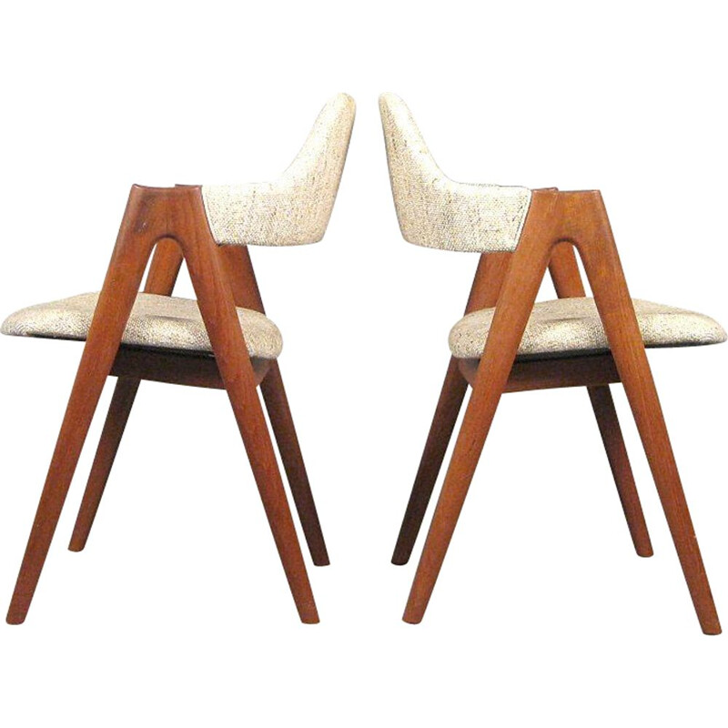 Set of 2 Kai Kristiansen teak compass chairs