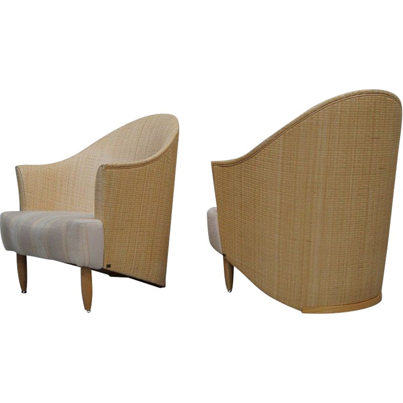 Pair of vintage Italian lounge chairs from Pierantonio Bonacina, 1980s