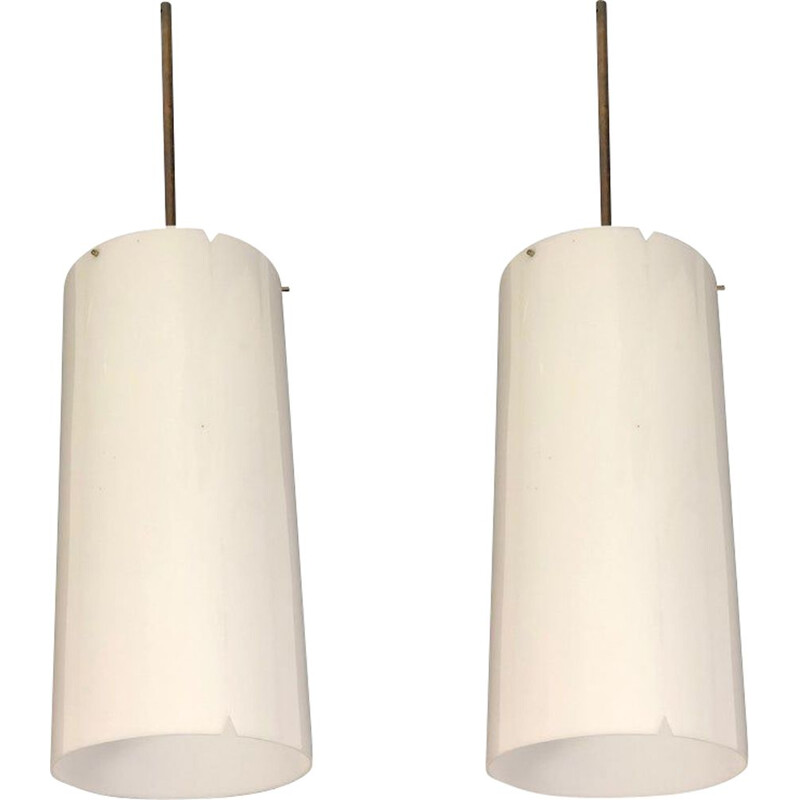 Pair of vintage pendants by Erik Moller for Louis Poulsen