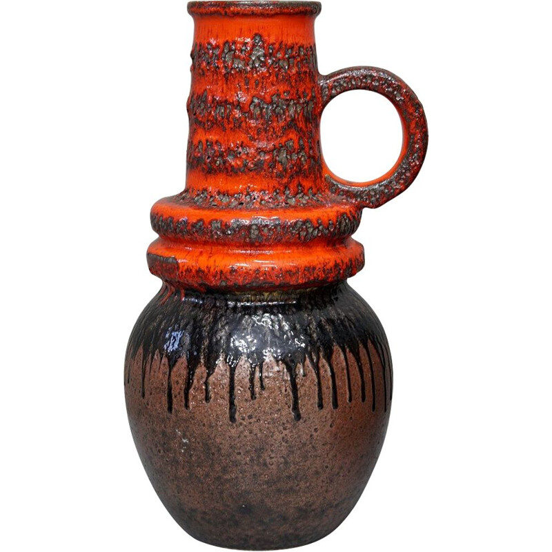 Vintage Fat Lava vase from Scheurich, 1970s